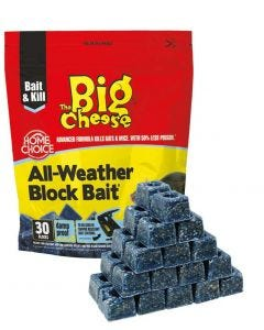 Big Cheese Rat & Mouse All Weather Bait Blocks 300g