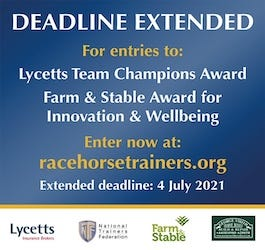 Do you work at a Racing yard? Enter the Farm & Stable Award today!